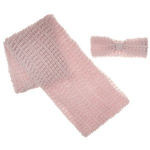 Tahari Open Knit Infinity Scarf & Head Wrap Set